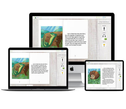 Interactive digital reader allows students to listen and record
