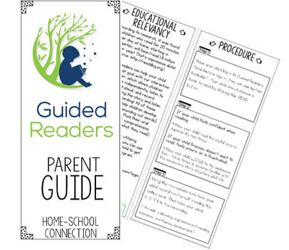 Guided Readers informational tri fold for parents