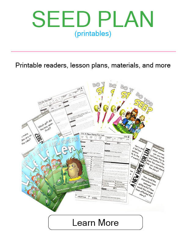 Image of printable readers, lesson plans, materials, and more