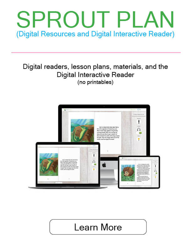 Image of digital readers, lesson plans, materials, and Digital Interactive Reader
